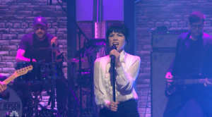 """Watch Carly Rae Jepsen Perform """"Run Away With Me"""" & """"Your Type"""" On Seth Meyers"""