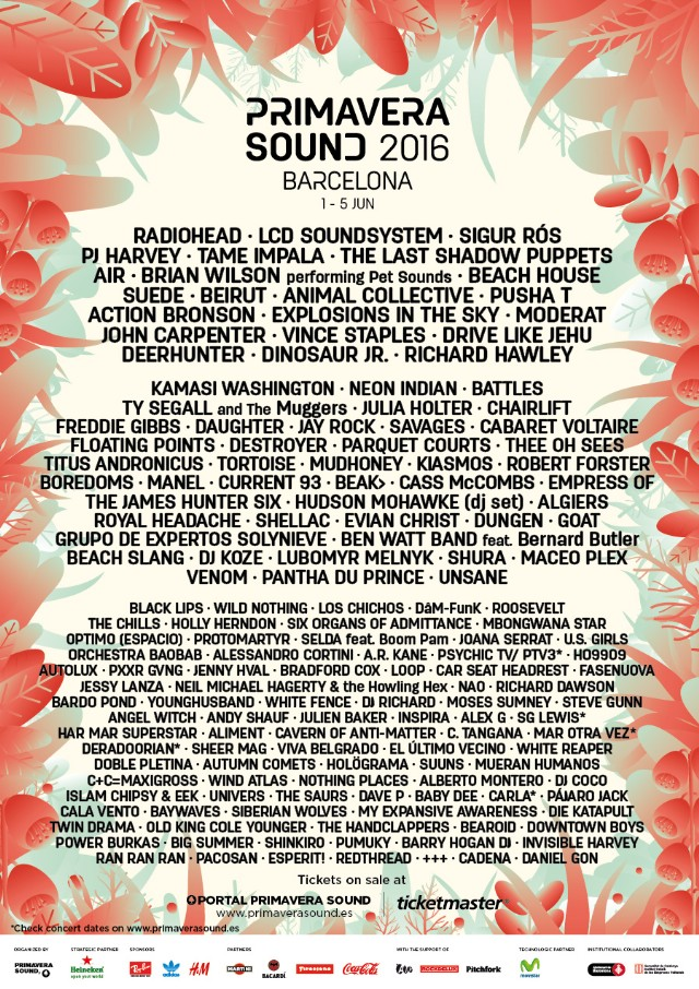 Mad Cool 2020 // Billie Eilish, Faith No More, Deftones, Anderson .Paak, Kali Uchis, Rex Orange County... - Página 19 Primavera-sound-2016-lineup-640x906