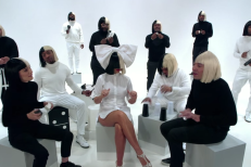"Watch Sia, Natalie Portman, & Jimmy Fallon Sing ""Iko Iko"""