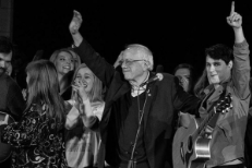 Watch Vampire Weekend's Ezra Koenig & Dirty Projectors' Dave Longstreth Play Bernie Sanders Rally In Iowa City