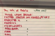 Kanye West Reveals <em>The Life Of Pablo</em> (!) Tracklist