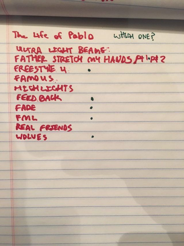 Kanye West Reveals The Life Of Pablo (!) Tracklist