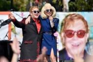 Watch Lady Gaga Join Elton John At Surprise Sunset Strip Show