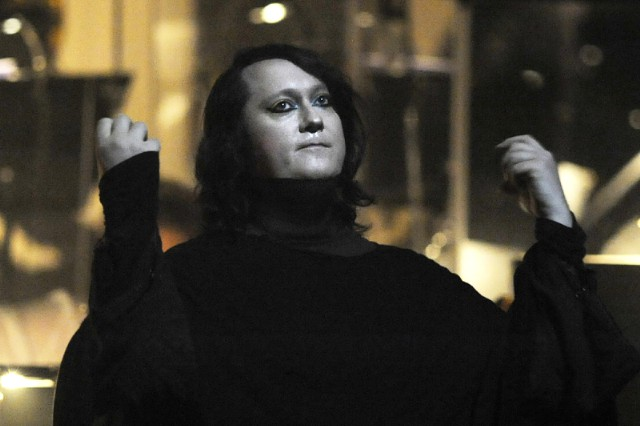 British singer Antony Hegarty of the Ame
