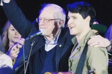 Bernie Sanders and Ezra Koenig