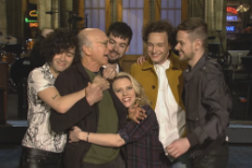 Watch Larry David Get A Hug From The 1975 In Their SNL Promo