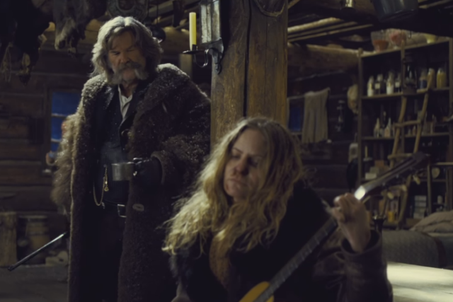 Kurt Russell Smashed An Actual 19th Century Antique Guitar In The Hateful Eight Museum Isn T Happy Stereogum