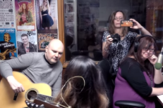 Watch Billy Corgan Sit In On Folk Duo's Local AM Radio Session