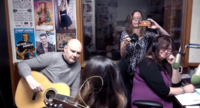 Watch Billy Corgan Sit In On Folk Duo's Local AM Radio Session