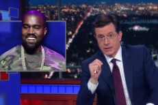 Stephen Colbert and Kanye West