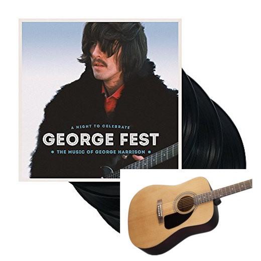 Win George Fest 3xLP & Fender Acoustic Guitar
