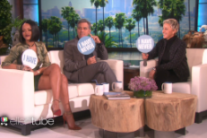 "Watch Rihanna And George Clooney Play ""Never Have I Ever"" With Ellen"