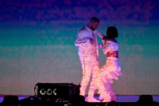 "Watch Rihanna & Surprise Guest Drake Perform ""Work"" Live For The First Time At The BRIT Awards"