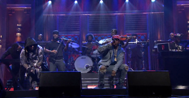 Watch Lil Wayne & 2 Chainz Debut New Collaborative Project Collegrove on Fallon