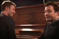 Chris Martin and Jimmy Fallon