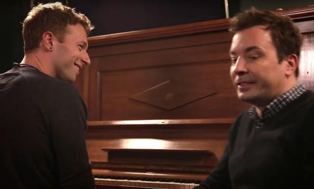 Chris Martin and Jimmy Fallon