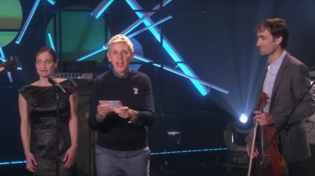 Fiona Apple and Andrew Bird on Ellen