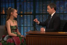 Joanna Newsom and Seth Meyers
