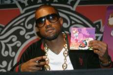 Kanye West Celebrates His New CD At Virgin Megastore
