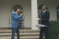 Watch <em>Hamilton</em>&#8217;s Lin-Manuel Miranda Play A Freestyle Rap Game With President Obama