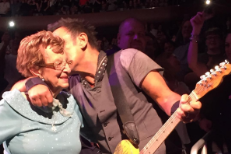 Watch The Boss Dance With His Mom At MSG