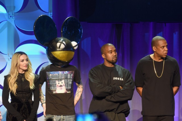 Madonna, Deadmau5, Kanye West, and Jay Z