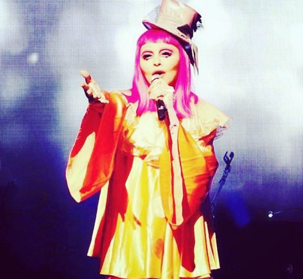 Madonna Played A Show Dressed As A Clown Where She Rode A Tricycle And Told Clown Jokes