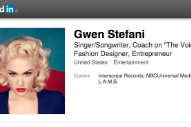 Gwen Stefani Would Like To Add You To Her Professional Network On LinkedIn