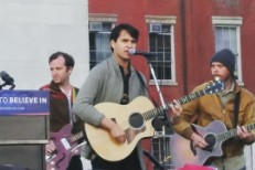 Watch Vampire Weekend And Dirty Projectors' Dave Longstreth Play Bernie Sanders Rally In NYC