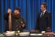 Watch Action Bronson Cook Octopus On <em>Seth Meyers</em>