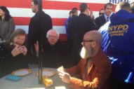 Watch Michael Stipe Introduce Bernie Sanders At Coney Island Rally
