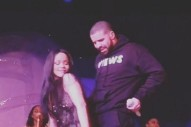 "Watch Drake Do ""One Dance"" Live For The First Time At Rihanna's Toronto Show"