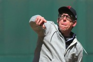 Watch Patrick Carney Throw The First Pitch At Cleveland Indians' Opening Day