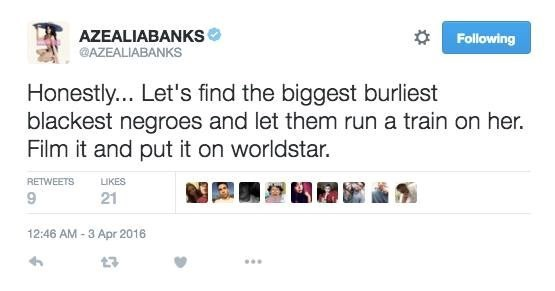 Azealia Banks tweet