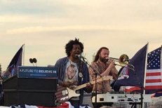 Watch TV On The Radio Play Bernie Sanders Rally In Queens