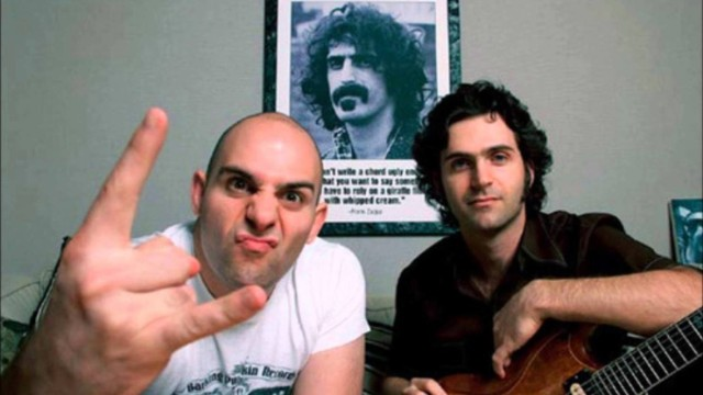 Ahmet and Dweezil Zappa