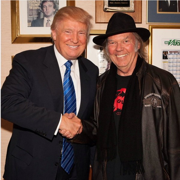 Donald Trump and Neil Young