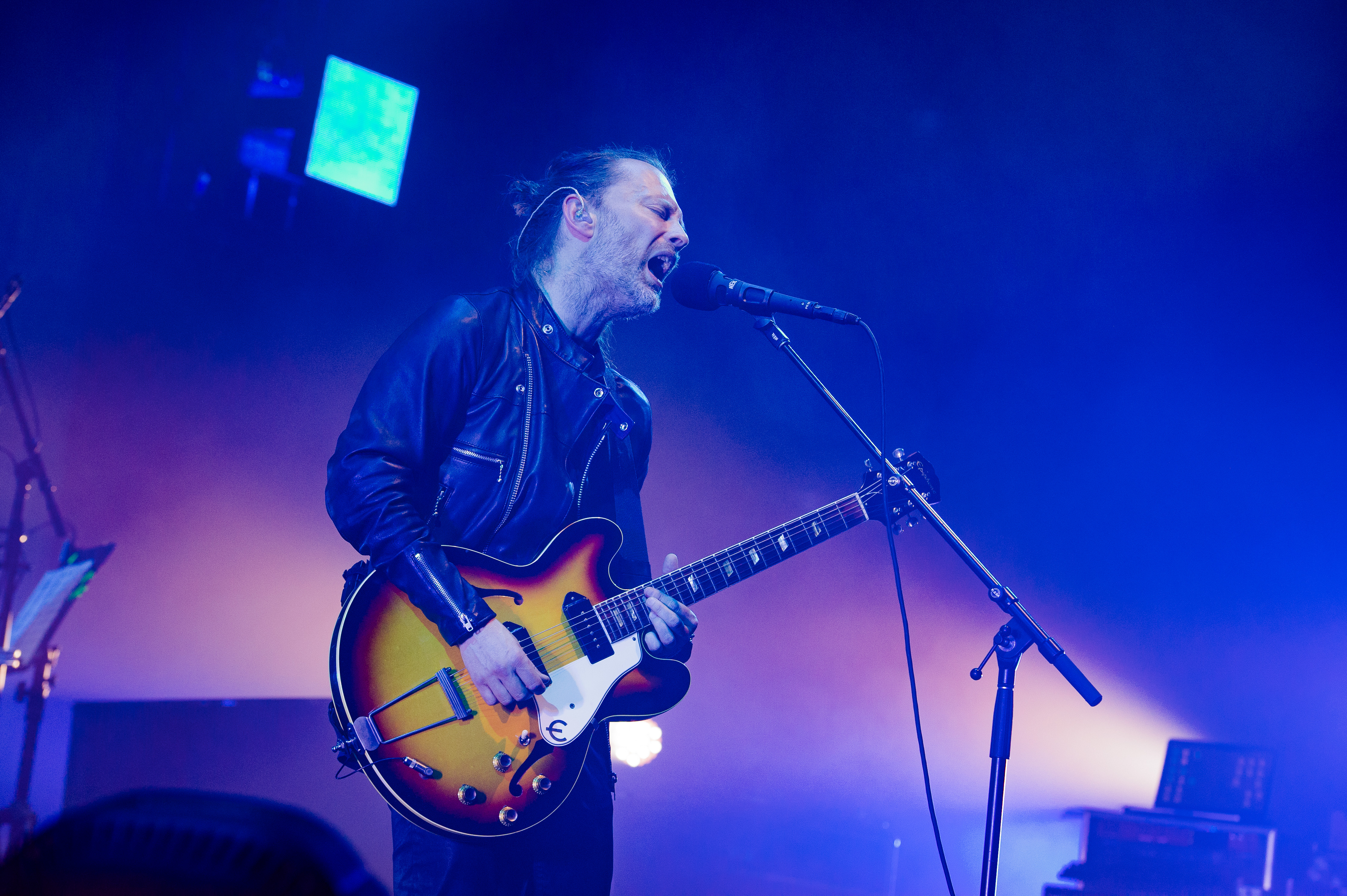 PARIS, FRANCE - MAY 23: Thom Yorke from Radiohead performs at Le Zenith on May 23, 2016 in Paris, France. (Photo by David Wolff - Patrick/Redferns)