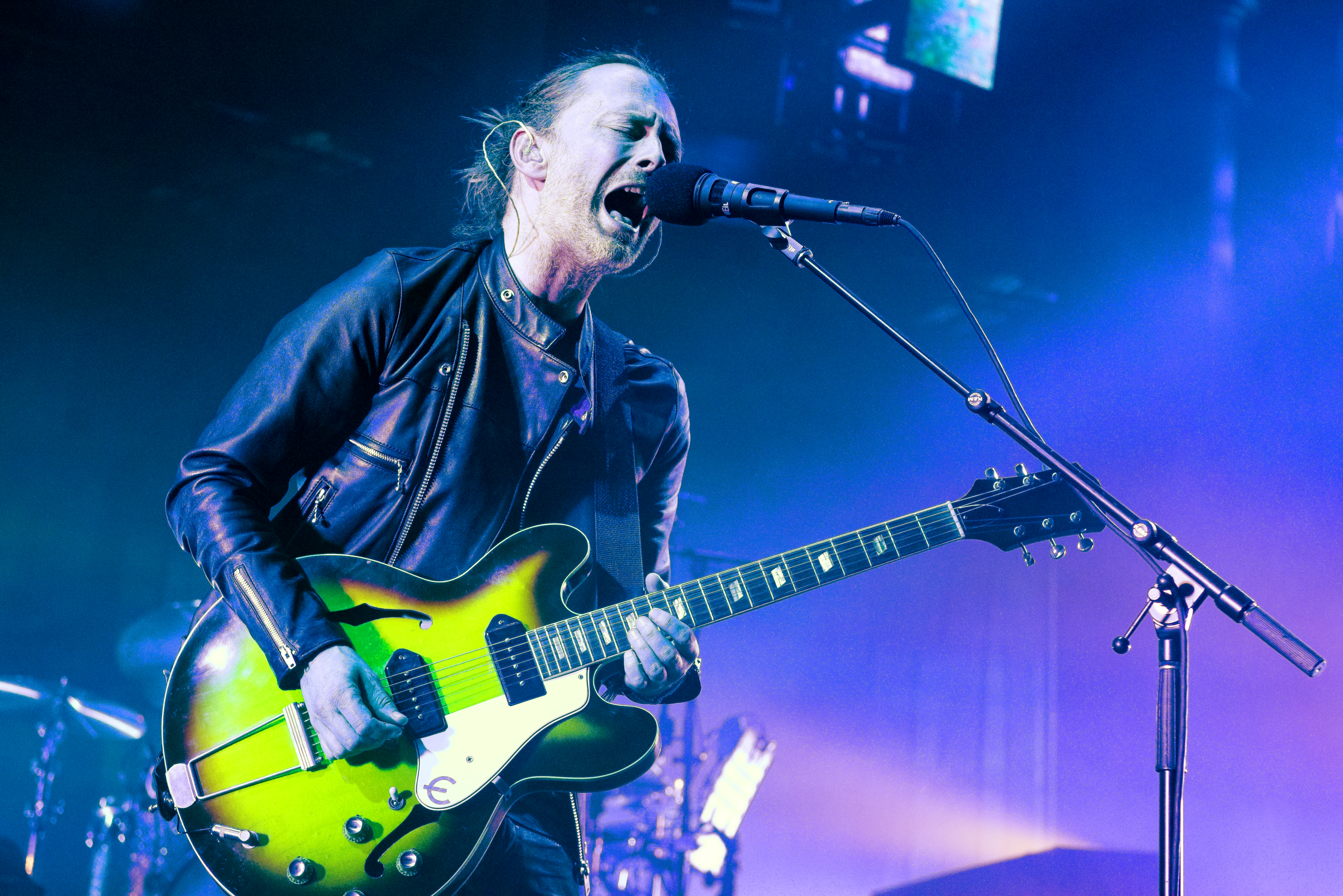 LONDON, ENGLAND - MAY 26: Thom Yorke of Radiohead performs at The Roundhouse on May 26, 2016 in London, England. (Photo by Matthew Baker/Getty Images)