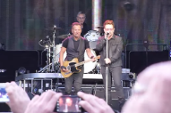 "Watch Bono Join Bruce Springsteen On ""Because The Night"" In Dublin"