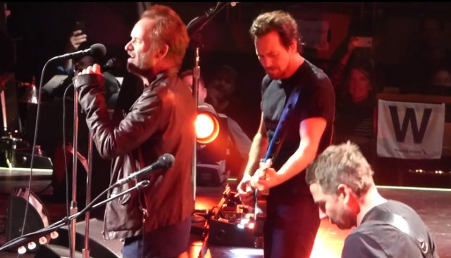 Sting with Pearl Jam