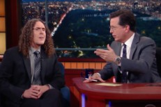 Weird Al Yankovic and Stephen Colbert