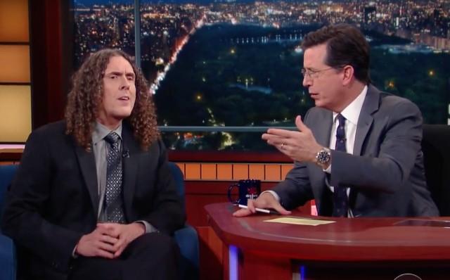 Weird Al Yankovic and Stephen Colbert
