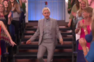 Watch Ellen DeGeneres Dance With A Drake On Her Head