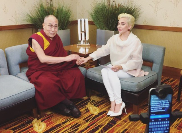 The Dalai Lama and Lady Gaga