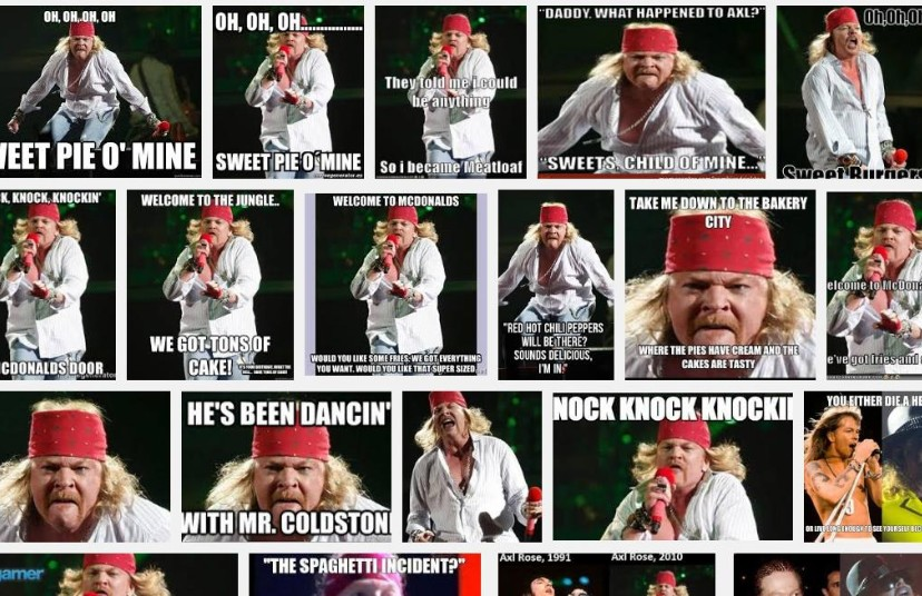 Axl Rose Wants Google To Remove Fat Axl Meme - Stereogum
