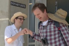 Rivers Cuomo and Rainn Wilson