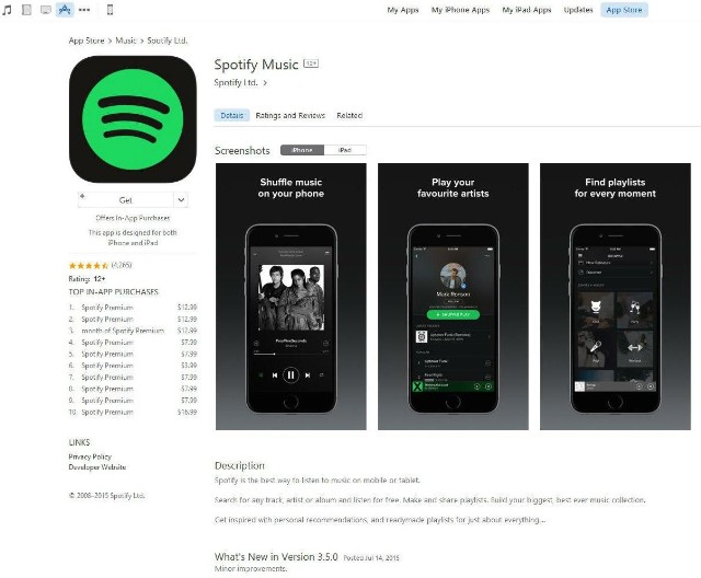 Spotify-app-at-Apple-App-store