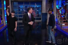 Stephen Colbert Skrillex and Chance the Rapper