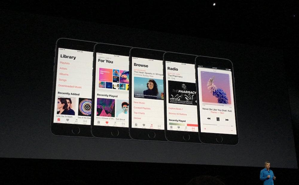 Apple Unveils Apple Music Redesign